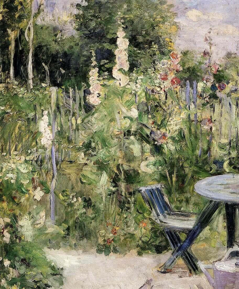 """""""Roses Trémières"""" by Berthe Morisot"""